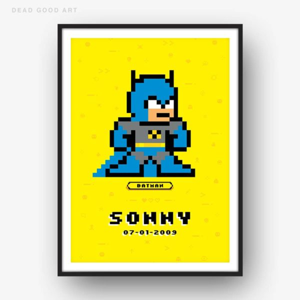 Marvel Wall Art Batman Art Personalized Print